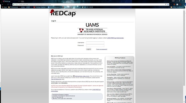 redcap-log-in-page